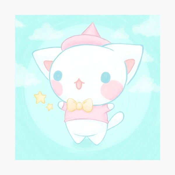 Cute magic cat - Kawaii aesthetic Photographic Print