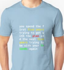 Where Are Your Friends Tonight? Unisex T-Shirt