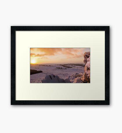 Hathersage Moor Sunrise Framed Print