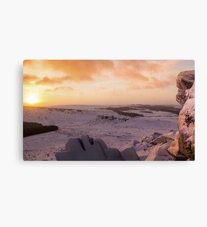 Hathersage Moor Sunrise Canvas Print