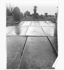 Mynyddislwyn Gravestone Path. Poster