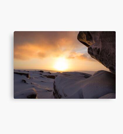 Winter Sunrise on Higger Tor Canvas Print
