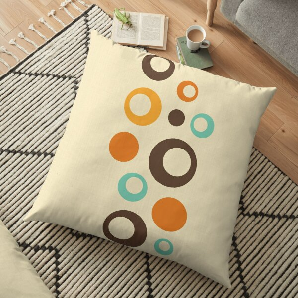 Midcentury Modern Baubles from Retro Revival by Pearl Davies Floor Pillow