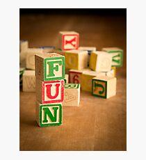 FUN - Alphabet Blocks Photographic Print