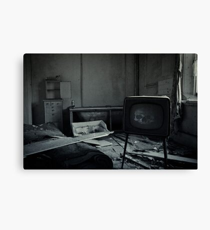 Too Much TV Will Kill You Canvas Print
