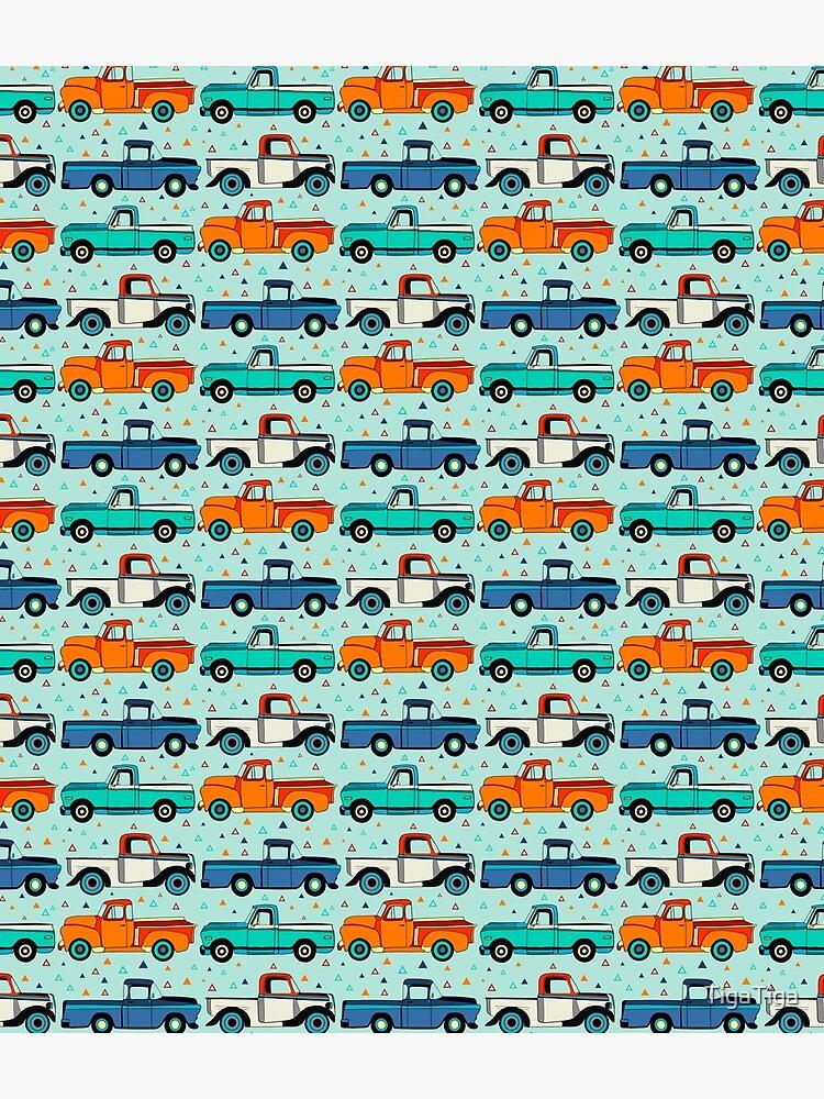 Bright Vintage Trucks  by TigaTiga