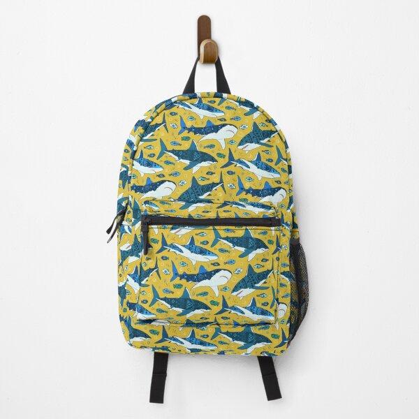 Sharks on Mustard  Backpack