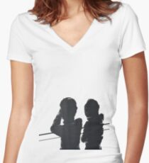 The Tourist  Women's Fitted V-Neck T-Shirt