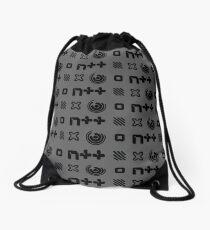 N++ Monogram Pattern Drawstring Bag