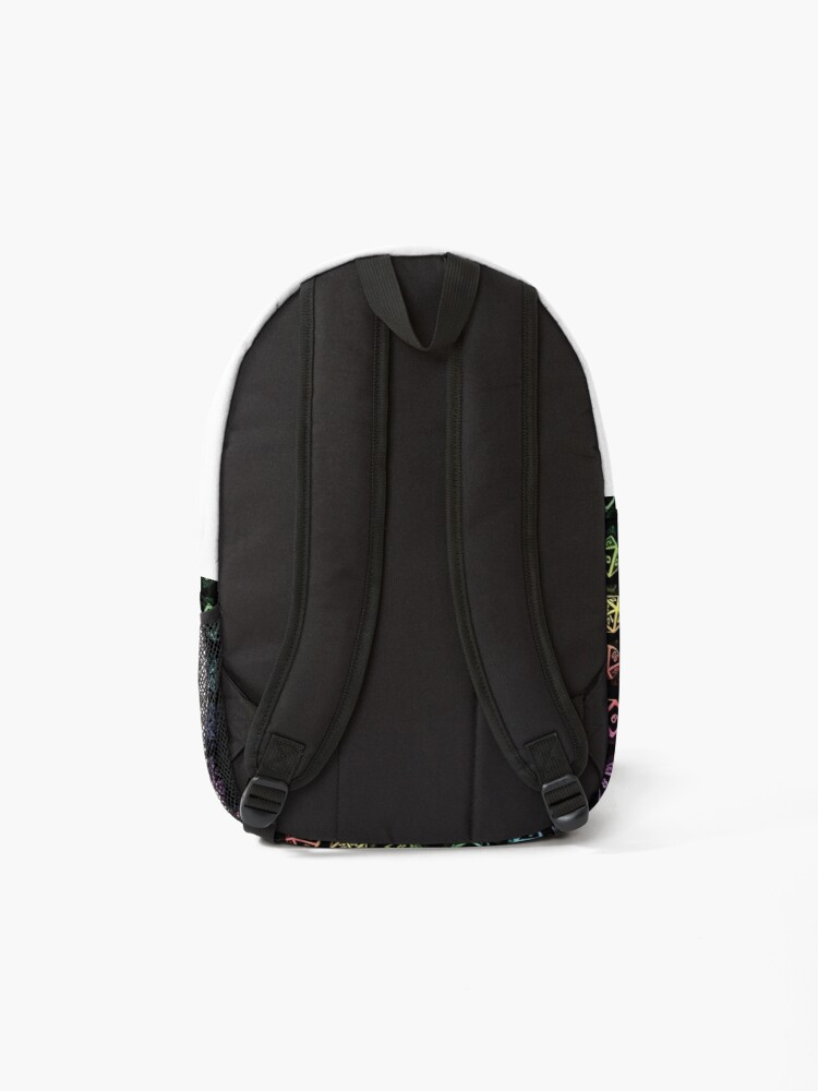 Alternate view of D20 Dice Set Pattern (Rainbow) Backpack