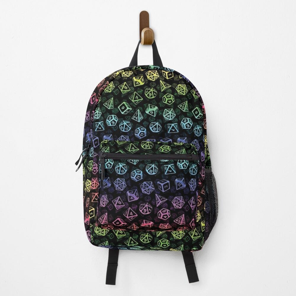 D20 Dice Set Pattern (Rainbow) Backpack
