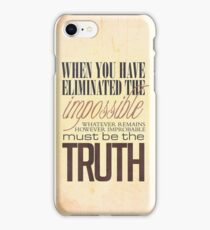 What remains is the truth iPhone Case/Skin