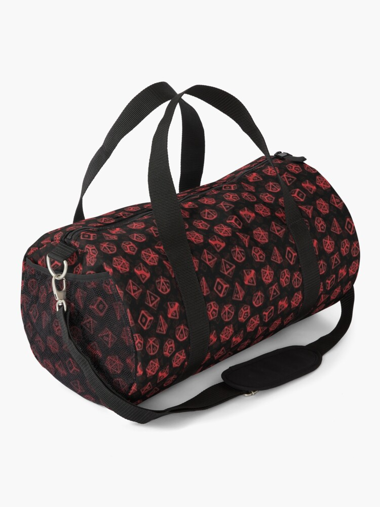 Alternate view of D20 Dice Set Pattern (Red) Duffle Bag