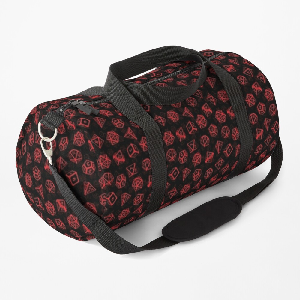 D20 Dice Set Pattern (Red) Duffle Bag