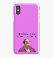 Megan Bridesmaids Coming Out Of Me Like Lava iPhone Case/Skin