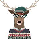 Hipster Deer transparenten Hintergrund von kennasato