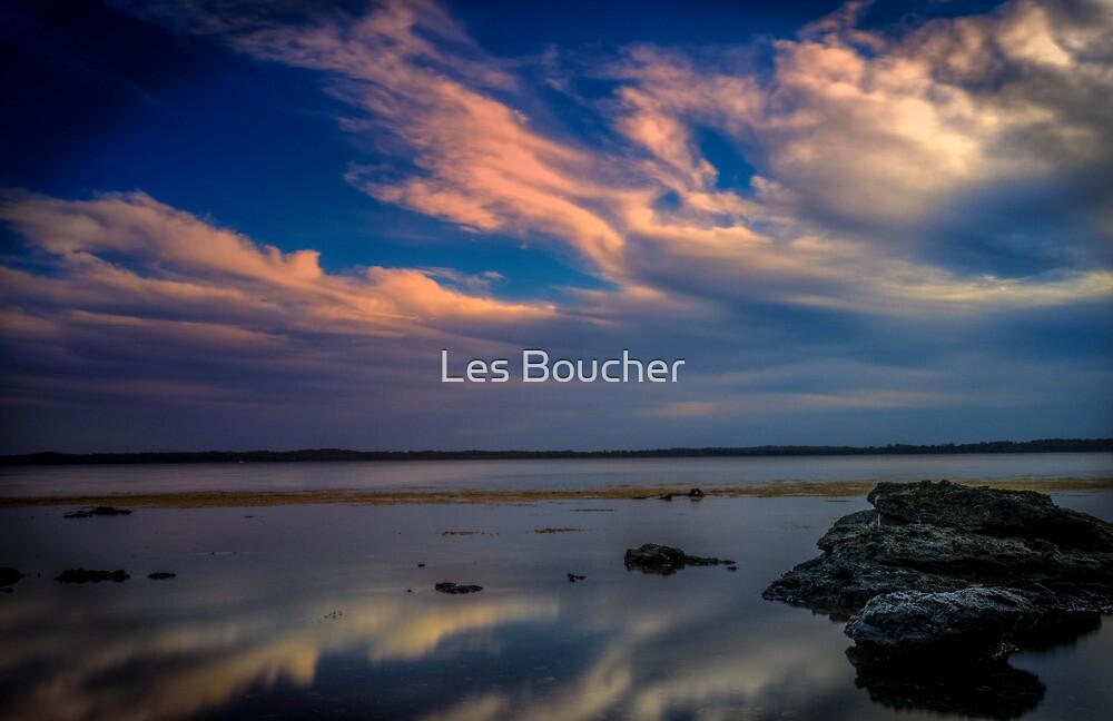 St.Georges Basin Sunset by Les Boucher