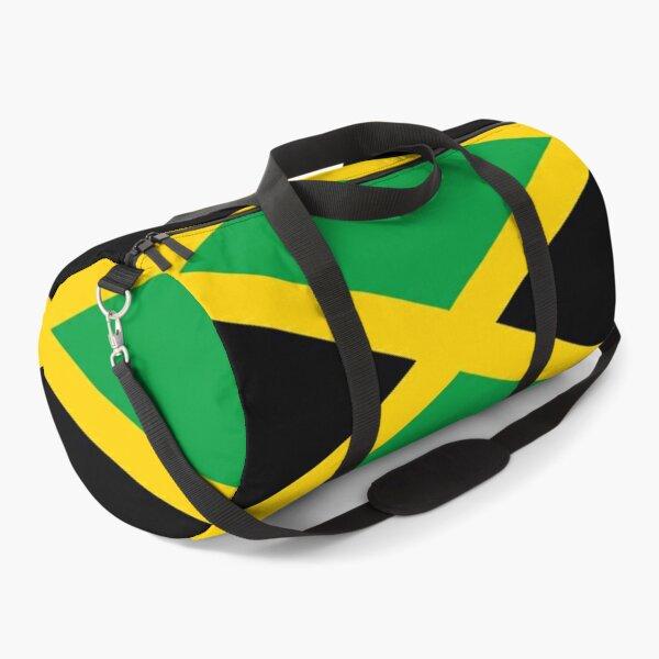 JAMAICA. JAMAICAN. Flag of Jamaica, FULL COVER, Jamaican Flag, Caribbean, Island, Pure & Simple. Duffle Bag