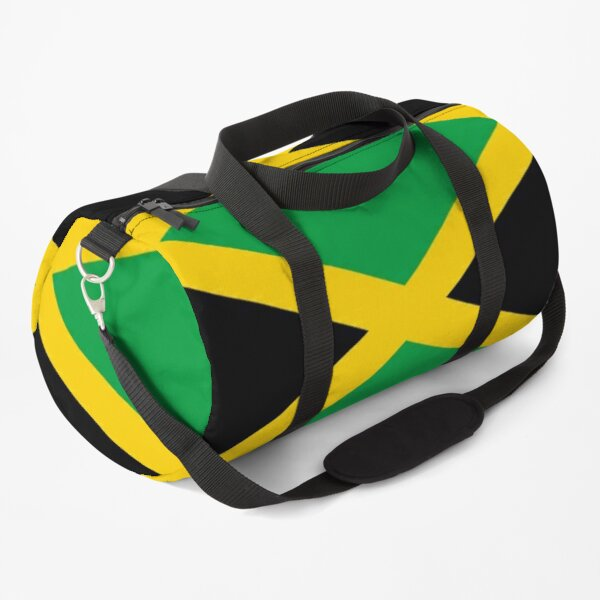 JAMAICA. JAMAICAN. Flag of Jamaica, FULL COVER, Jamaican Flag, Caribbean, Island, Pure & Simple. Duffle Bag