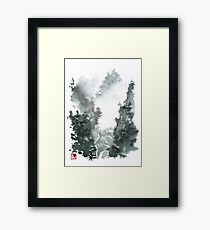 Misty Valley Traditional Chinese Landscape Framed Print