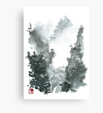 Misty Valley Traditional Chinese Landscape Metal Print