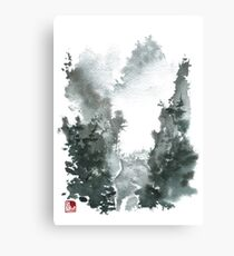 Misty Valley Traditional Chinese Landscape Canvas Print
