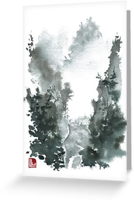 Misty Valley Traditional Chinese Landscape by Sean Seal