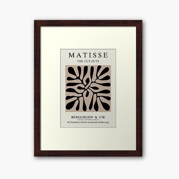 Henri Matisse - The Cutouts - Brown & Black - Prints Framed Art Print