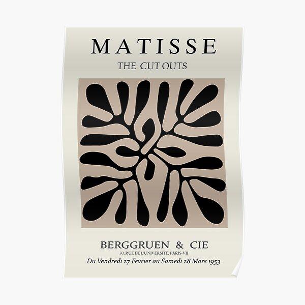 Henri Matisse - The Cutouts - Brown & Black - Prints Poster