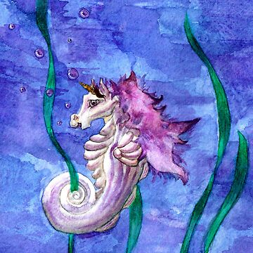 Unicorn Seahorse Underwater Fantasy by Aryon86