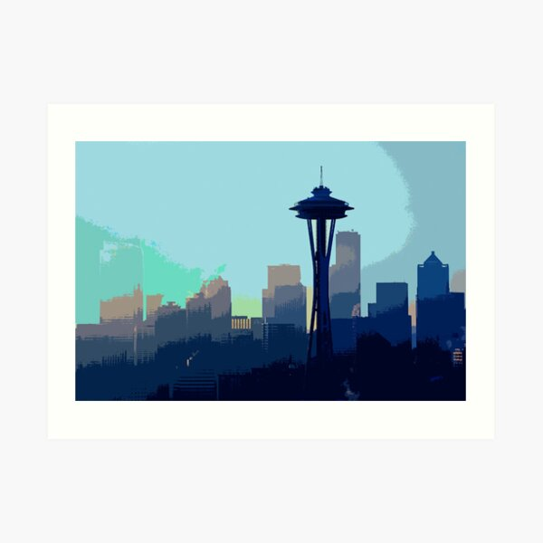 Downtown. Art Print