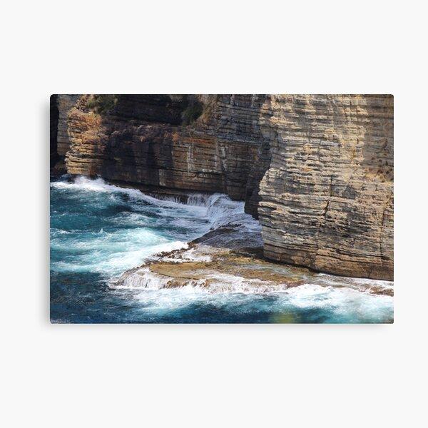 Waterfall Bay rocks - Tasman Peninsula Canvas Print