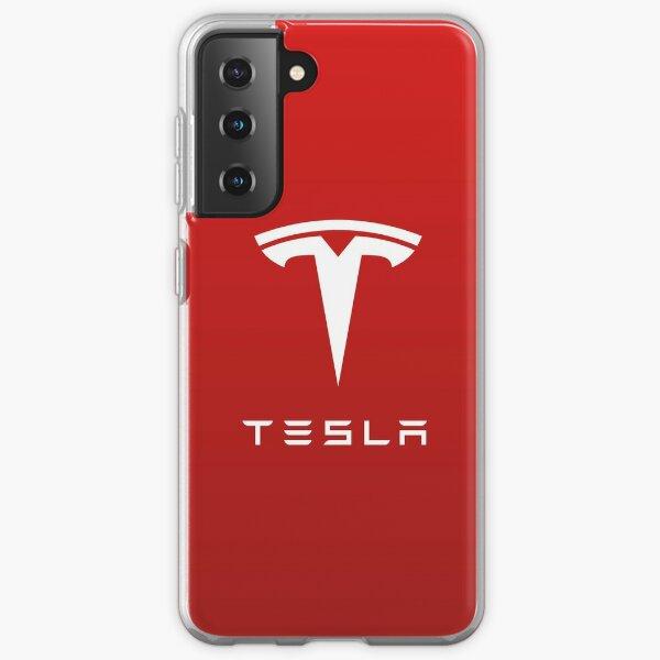 Tesla Motor Logo for Laptop & Mobile Skins / Cases Samsung Galaxy Soft Case