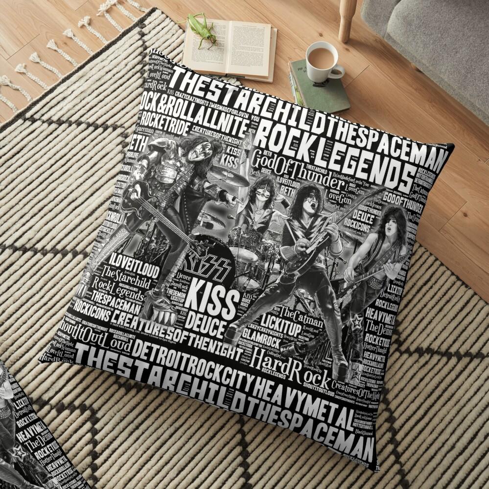 KISS - In Words 1 Floor Pillow