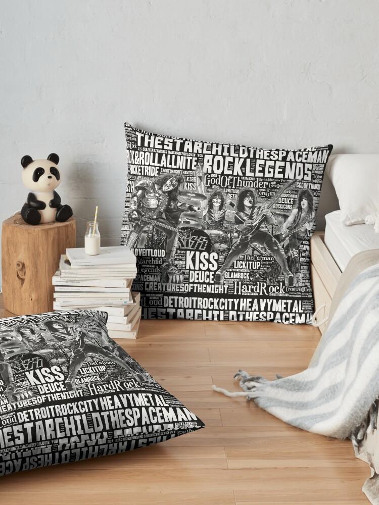 Alternate view of KISS - In Words 1 Floor Pillow