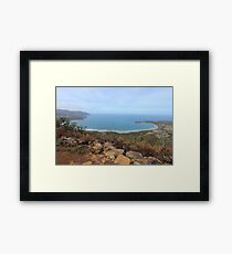 Pirates Bay - from the burnt Eaglehawk lookout Framed Print