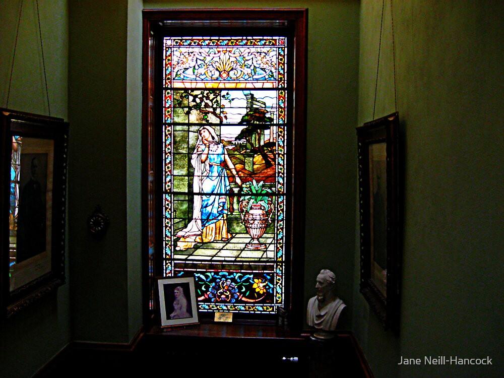 Rebecca Stained Glass Window, Lambert Castle by Jane Neill-Hancock