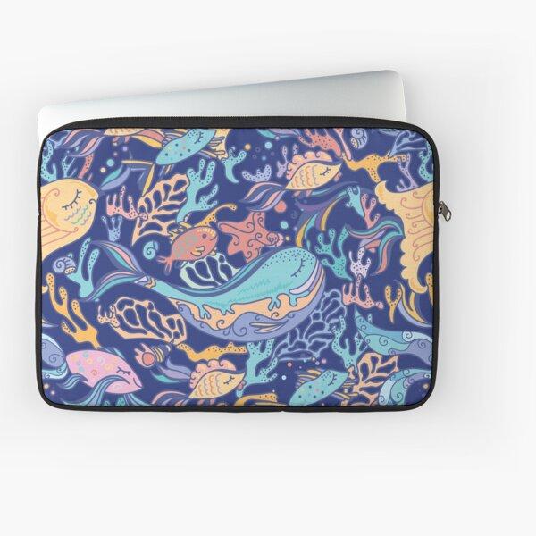 Hawaiian Sea Life Seamless Pattern Laptop Sleeve