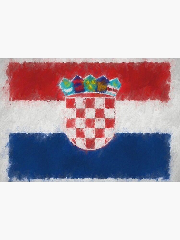 Croatia Flag Reworked No. 66, Series 4 by 8th-and-f