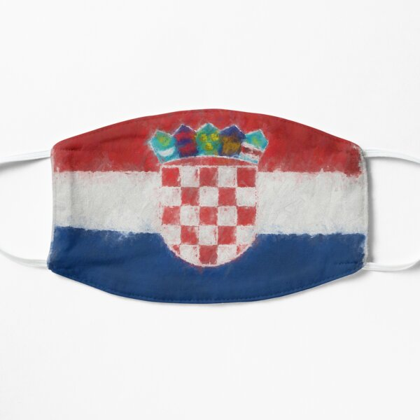 Croatia Flag Reworked No. 66, Series 4 Flat Mask