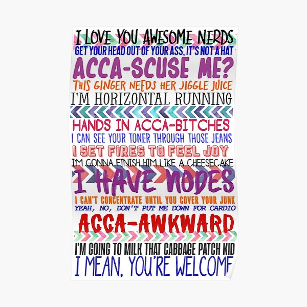 Pitch Perfect Quotes Poster