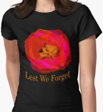 Lest We Forget, Poppy Women's Fitted T-Shirt