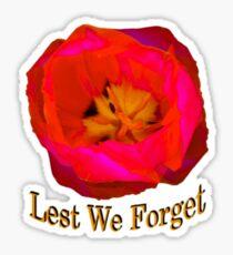 """Lest We Forget - """"Pocket"""" Badge Sticker"""
