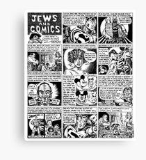 Jews and Comics Canvas Print