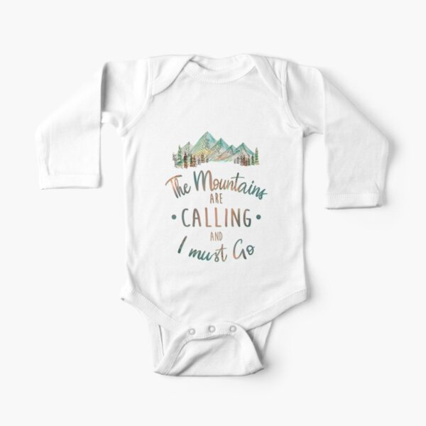 Mountains are Calling and I must Go Tatra Cottage Long Sleeve Baby One-Piece