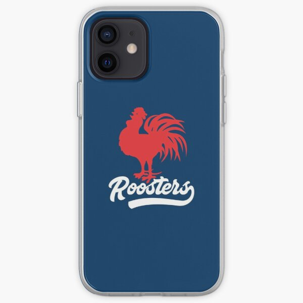 Sydney Roosters - Red Cockerel White Roosters with Tail on Rooster Blue! iPhone Soft Case
