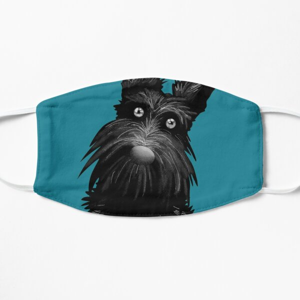 Cute Scotty Scottie Dog - Teal Mask