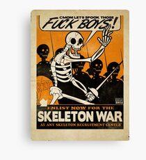 Skeleton War Canvas Print
