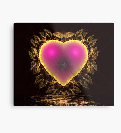 Lace Heart Metal Print