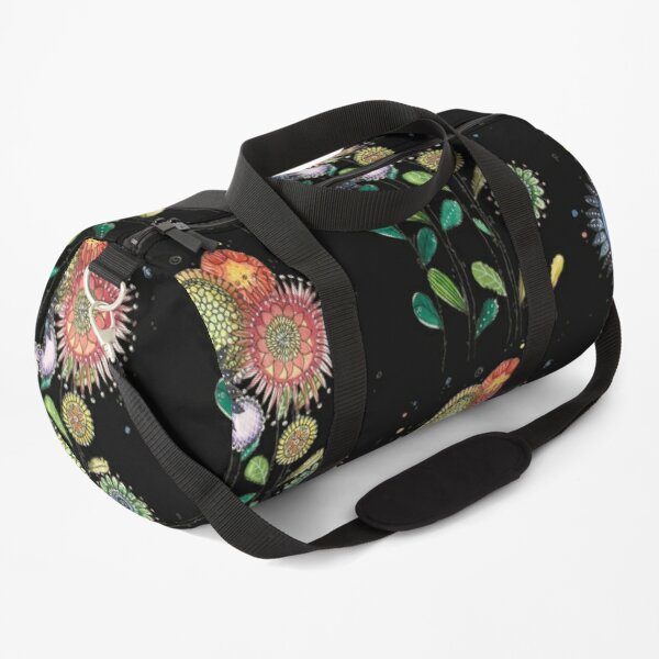 colored flowers Duffle Bag
